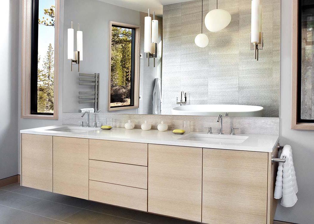Mobile Per Lavatrice Moderno mobili per bagno su misura - menuiserie robert